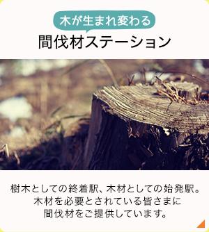 木が生まれ変わる 間伐材ステーション